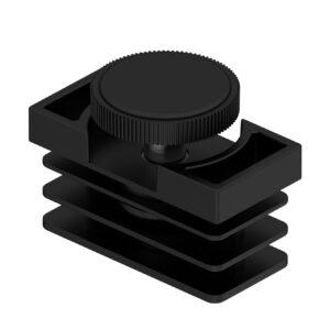 60X30 Rectangular Cap + Grooved Adj. Feet M10
