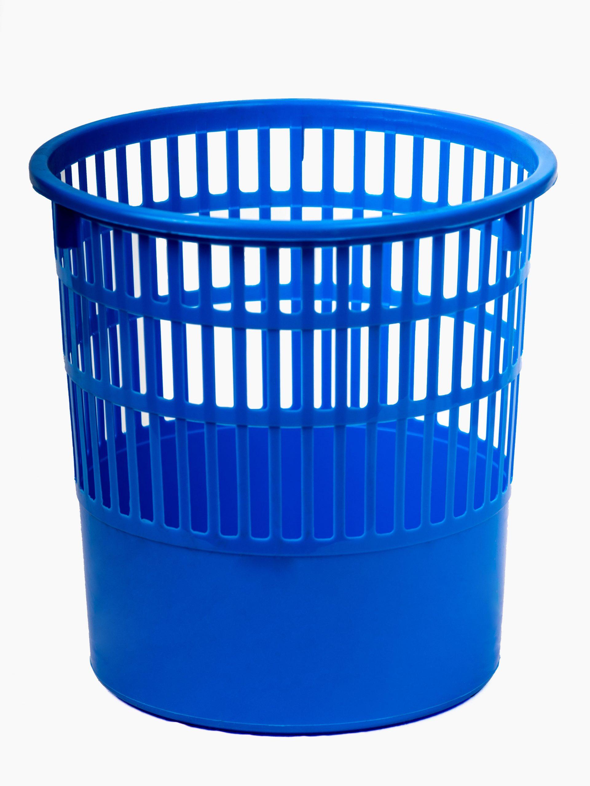Mesh bin blue